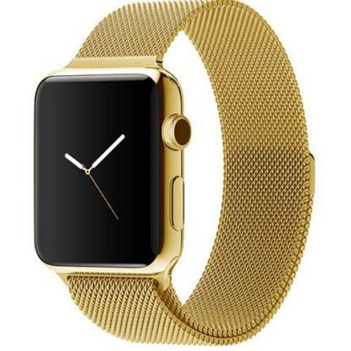 Ремешок iGuardian Milanese Loop для Apple Watch 44/42mm Gold(IGUMLGAW4442)