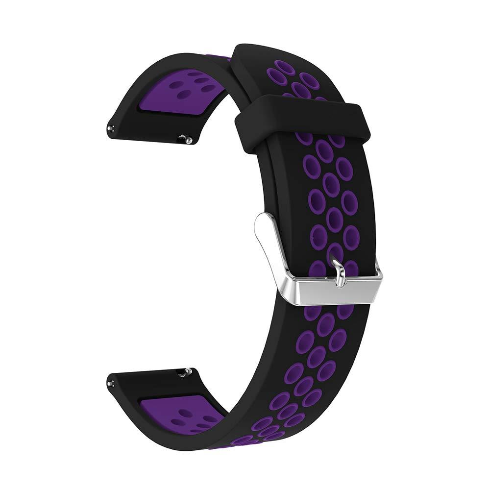 Ремешок Original для Samsung Watch 46mm/Gear S3 Sport/Black-Purple (0446004)