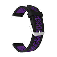 Ремешок Original для Samsung Watch 46mm/Gear S3 Sport/Black-Purple (0446004), фото 1