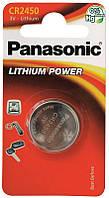 Батарейки Panasonic CR2450 1шт (CR-2450EL/1B)