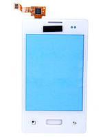 Тачскрин (сенсор) LG E400 Optimus L3 Dual Sim ORIG, white (белый)