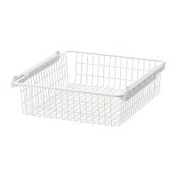 ИКЕА (IKEA) СТУВА ГРУНДЛИГ, 301.286.91, Проволочная корзина, белый, 60x49x13 см - ТОП ПРОДАЖ