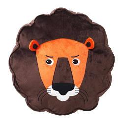 ИКЕА (IKEA) DJUNGELSKOG, 303.937.46, Подушка, лев, коричневый - ТОП ПРОДАЖ