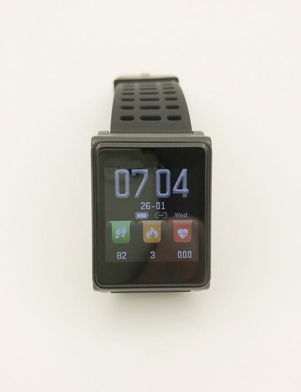 Фитнес-браслет Mavens fit N98 с силиконовым ремешком Черный