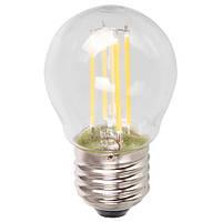 """Светодиодная лампа Feron LB61 4W E27 4000K типа G45 """"шар"""" прозрачная для  декоративного освещения"""