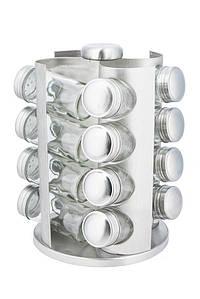 Карусель для специй KingHoff 16 баночек подставка для специй, баночки для специй 17 предметов KH4006