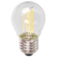"""Светодиодная лампа Feron LB61 4W E27 2700K типа G45 """"шар"""" прозрачная для  декоративного освещения"""