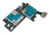Шлейф Samsung N7100 Galaxy Note 2 с держателем SIM-карты и карты памяти Original