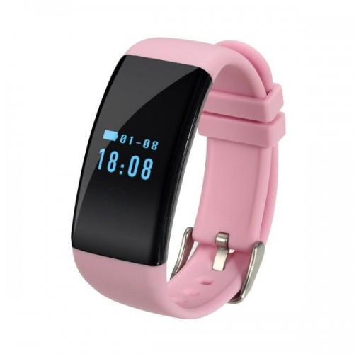 Умный фитнес-браслет Supero Smart Band D21 Розовый (eDHV27256)