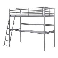 ИКЕА (IKEA) СВЭРТА, 591.512.71, Каркас крвт-чрдк со стлшн, серебристый, 90x200 см