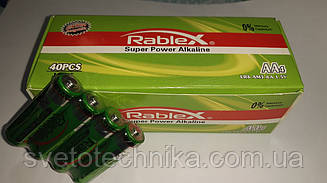 RablexLR03 AM3 AA 1.5V (Super Power Alkaline) (Упаковка 40шт.) щелочная батарейка
