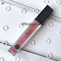 Жидкая суперстойкая помада Satin Effect Lipstick (02 seer salmon) Aden, фото 1