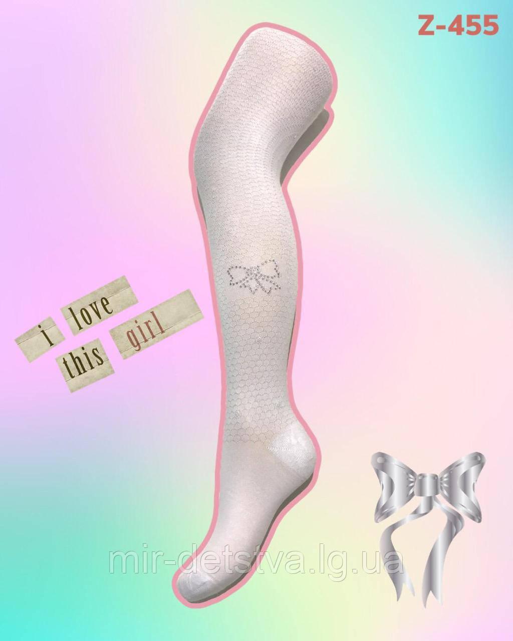 Нарядные белые колготки для девочек ТМ PIER LONE оптом, Турция р.9-10 лет (134-140 см)