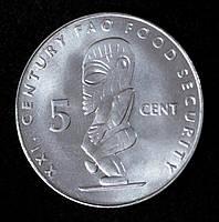 Монета Островов Кука 5 центов 2000 г.
