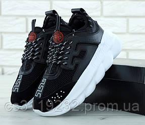 Мужские кроссовки Versace Chain Reaction (черные)