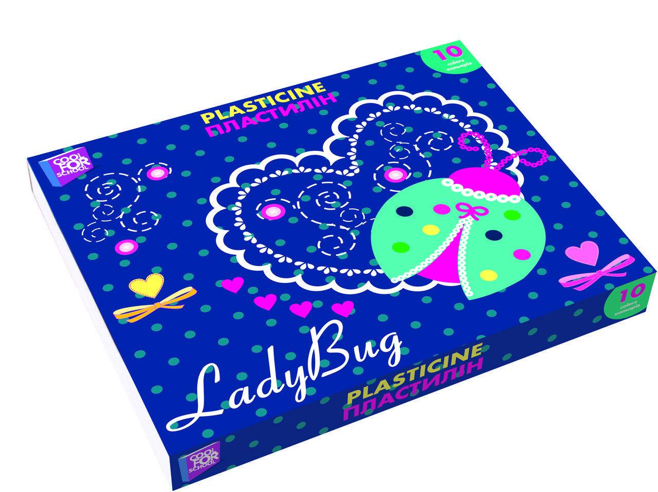 Пластилін Ladybug 10 кольорів, 200 г