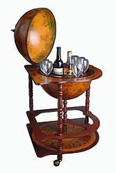 Напольный Глобус бар коричневого цвета