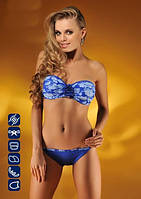 Синий купальник бандо, подушечки пуш-ап 252/10 Kathrin fashion