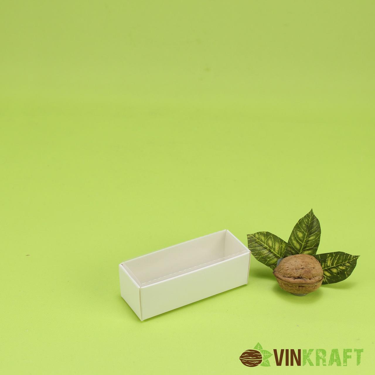 Коробка 86*30*30 для цукерок з кришкою ПВХ, біла