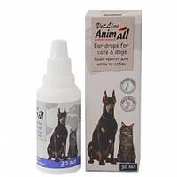 Краплі AnimAll VetLine Анімал ВетЛайн для вух кішок і собак 30 мл