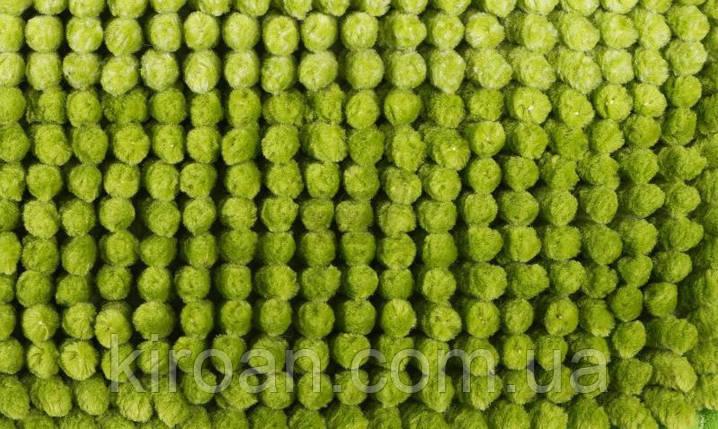 Набор ковриков для ванной комнаты Махрамат 60х90 см + 60х50 см с вырезом под туалет (салатовый), фото 2