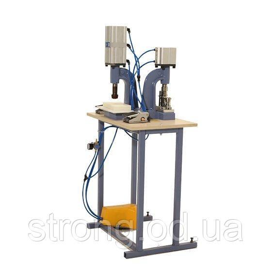 Пресс для обтяжки пуговицы тканью пневматический D-3 - Full Pnömatik Set
