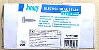 Шуруп саморез Knauf с буром блоха по металлу для гипсокартона 3,5х11мм упаковка 1000 штук