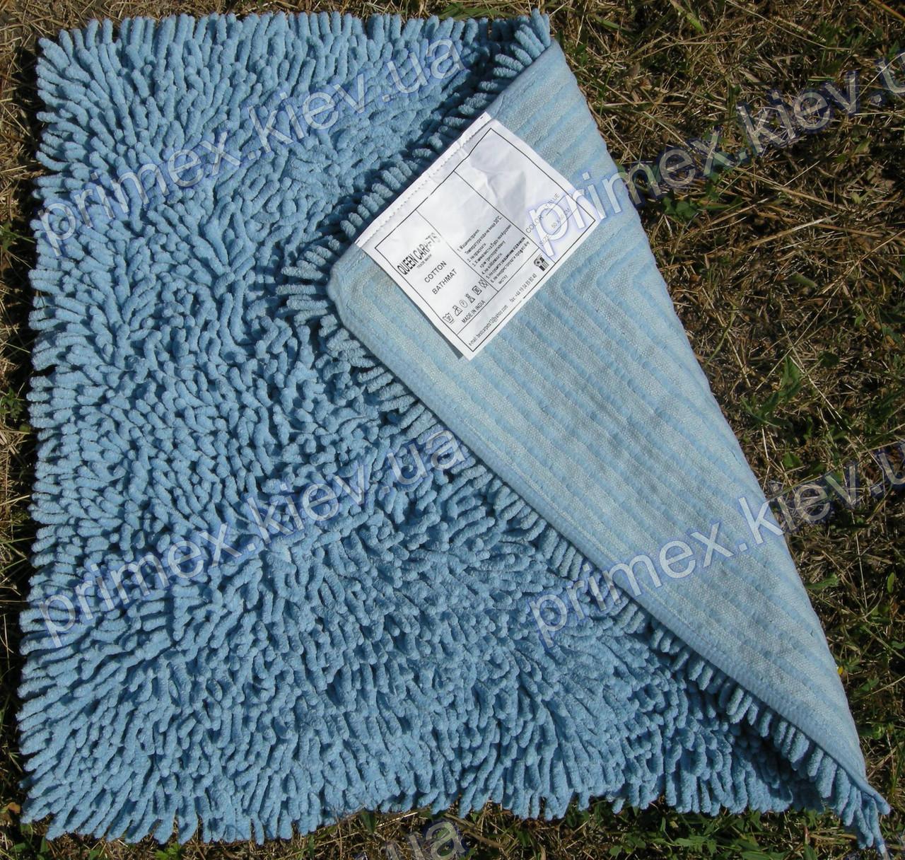 Коврик для ванной хлопковый, 70*100см. цвет голубой. Коврик для ванной купить