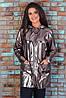 Женский демисезонный повседневный костюм спортивного стиля костюм из эко-кожи и трикотажа размеры 48-56, фото 7
