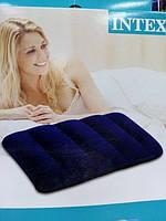 Надувная подушка intex  для моря синяя