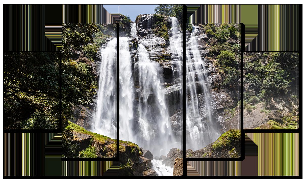 Модульная картина Interno Эко кожа Небольшой водопад 185х106см (A1585XXL)