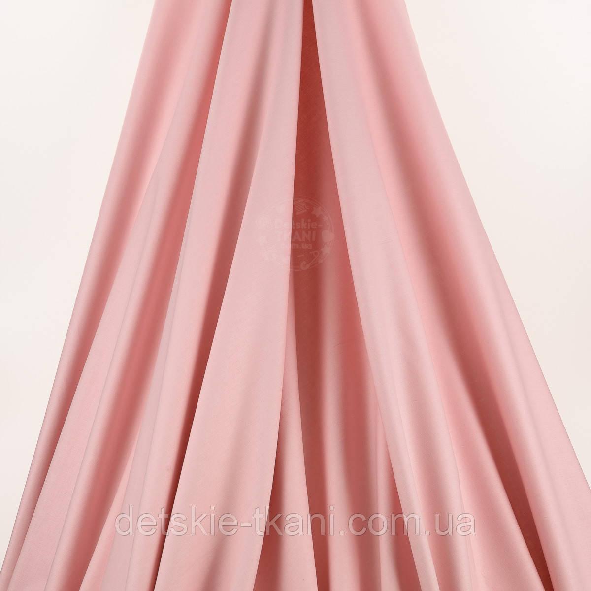 Лоскут  поплина цвет дымчатой розы № 1359, размер 39*120 см