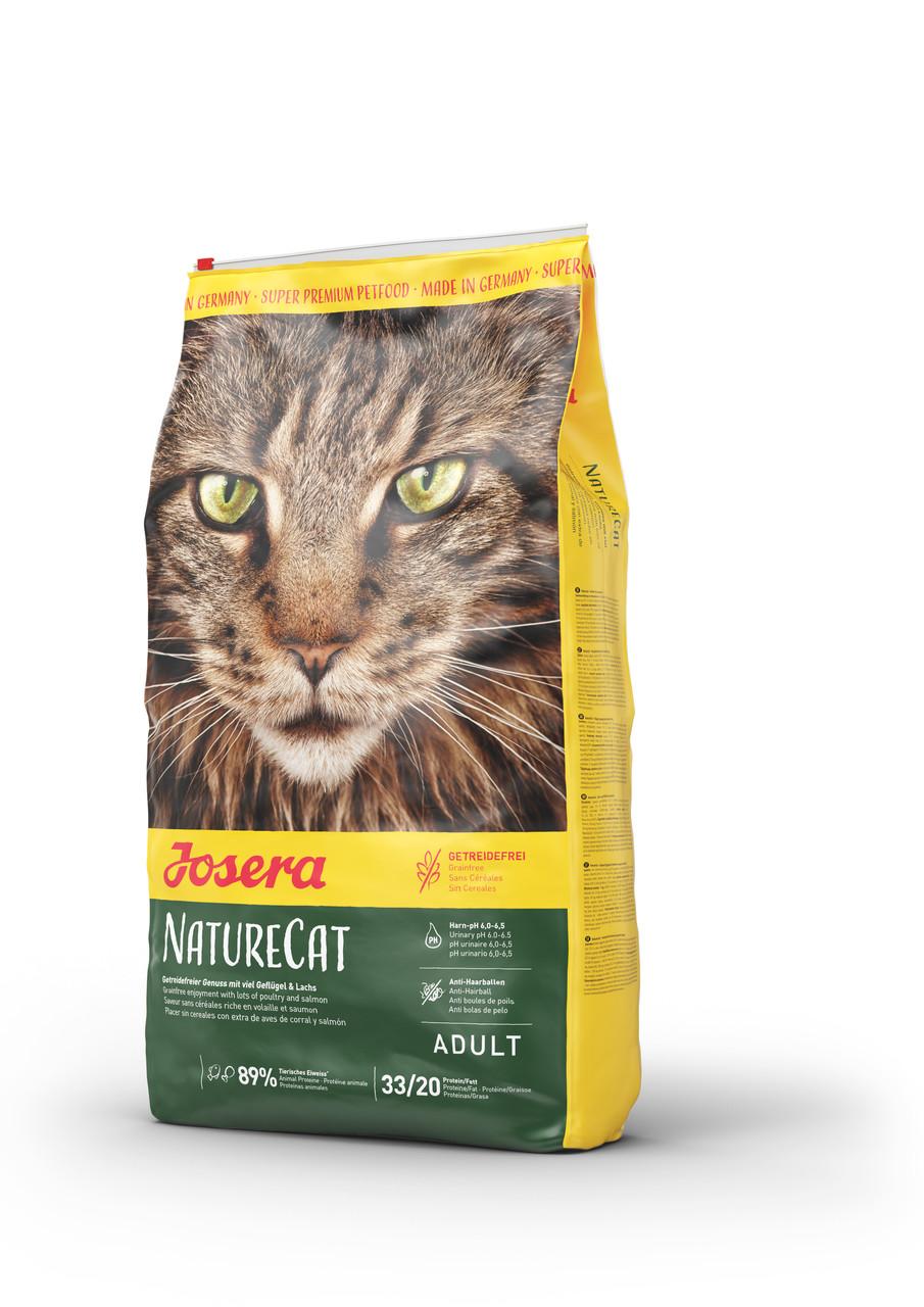 Josera Nature Cat 10кг - беззерновой корм для кошек с чувствительным пищеварением