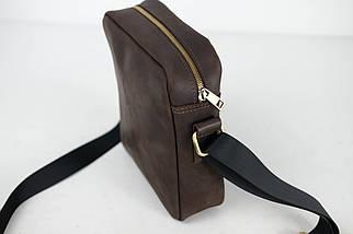"""Чоловіча сумка """"Модель №38"""" Вінтажна шкіра колір Шоколад, фото 2"""