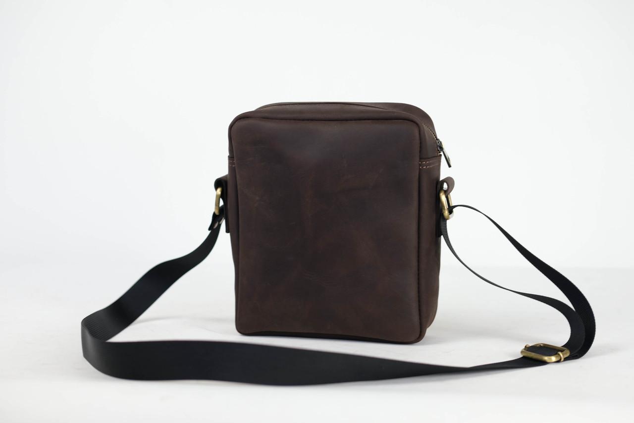 """Чоловіча сумка """"Модель №38"""" Вінтажна шкіра колір Шоколад"""