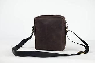 "Мужская сумка ""Модель №38"" Винтажная кожа цвет Шоколад"