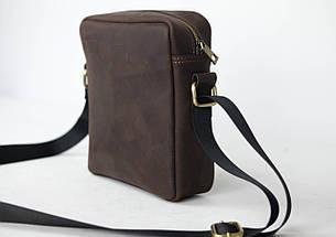 """Чоловіча сумка """"Модель №38"""" Вінтажна шкіра колір Шоколад, фото 3"""