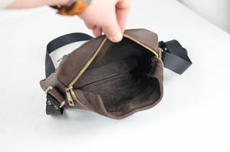 """Мужская сумка """"Модель №38"""" Винтажная кожа цвет Шоколад, фото 2"""