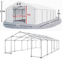 Шатер 5х10 ПВХ 560 г/метр с мощным каркасом под склад гараж палатка ангар намет павильон садовый белый