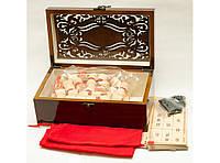 I5-84 Лото в деревянном сундучке, Настольная игра, Деревянное лото, Подарочное лото, Лото из дерева сувенир
