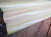 """Экокожа (кожзам) на тканевой основе """"Градиент"""", цвет белый, 20х30 см"""