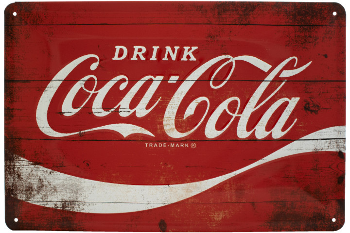 Табличка Nostalgic-Art Coca-Cola - Logo Red Wave