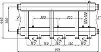 Коллектор стальной с креплением К32Н.150.(300) СК-363.150 (выход вниз)