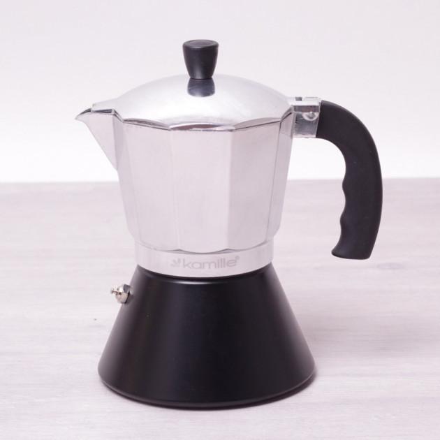 Для приготовления кофе гейзерная кофеварка Kamille KM-2508 450 мл алюминий