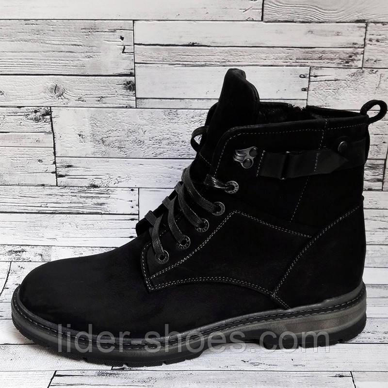 Кожаные мужские ботинки на шнурках