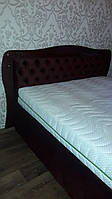 Двуспальная кровать БРАУН с каретной стяжкой. Двуспальная кровать.