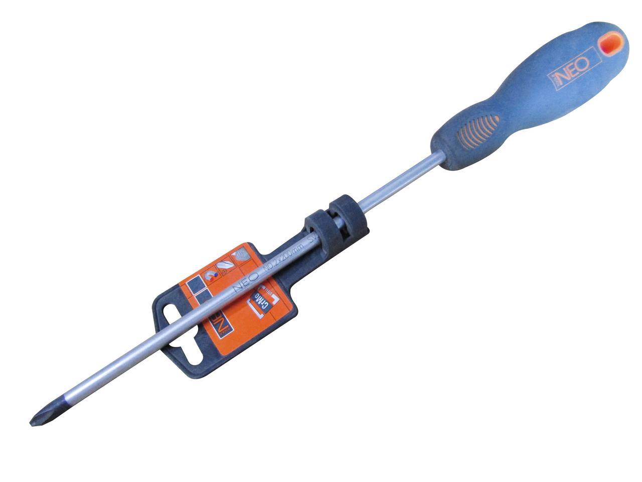 Отвертка шлицевая PH2x200мм (NEO) 04-025