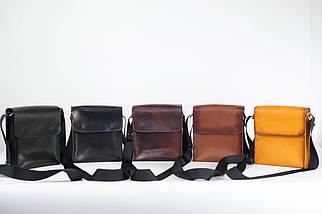 """Чоловіча сумка """"Модель №40"""" Шкіра Італійський краст колір Коричневий, фото 3"""