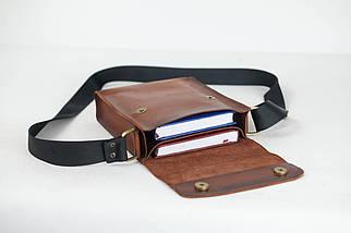 """Чоловіча сумка """"Модель №40"""" Шкіра Італійський краст колір Коричневий, фото 2"""