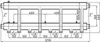Коллектор стальной с креплением К42Н.150.(300) СК-463.150 (выход вниз)